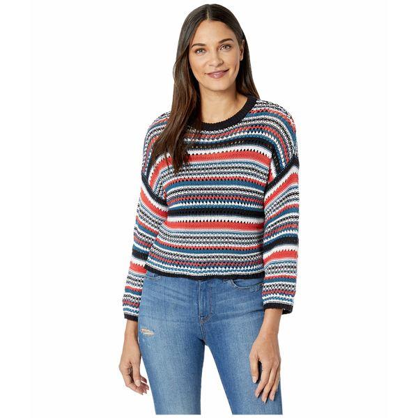 ビービーダコタ レディース ニット&セーター アウター Kaleidoscope Eyes Cotton Sweater with Novelty Stitch Multi Stripe