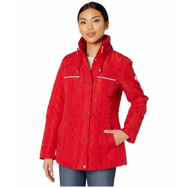 ヴィンスカムート レディース コート アウター Quilted Jacket V10706-ZA Scarlet