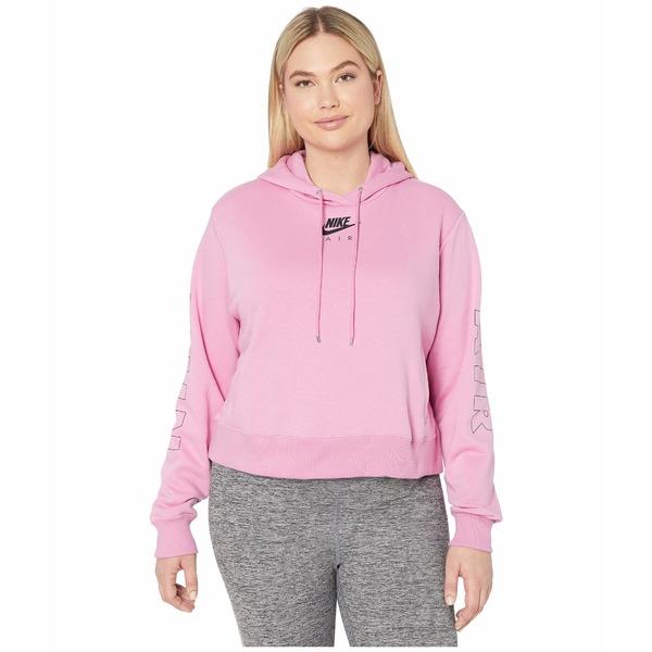 ナイキ レディース パーカー・スウェットシャツ アウター Plus Size NSW Air Hoodie Fleece Magic Flamingo/Ice Silver