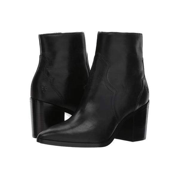 フライ レディース ブーツ&レインブーツ シューズ Flynn Short Inside Zip Black Antiqued Polished Leather