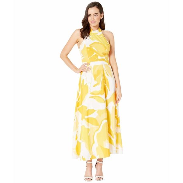 タハリ レディース ワンピース トップス Sunburst Charmeuse Floral Maxi Halter Dress Sunburst Swirl