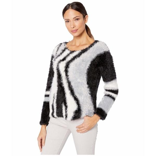 ヴィンスカムート レディース ニット&セーター アウター Long Sleeve Fuzzy Argyle Pullover Rich Black