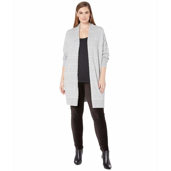 マイケルコース レディース ニット&セーター アウター Plus Size Tinsel Stripe Long Cardigan Pearl Heather