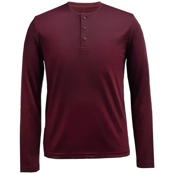 【在庫処分】 アルファニ メンズ Tシャツ トップス Men&39;s AlfaTech Henley Shirt Port, 全日本送料無料 9a2f59ef