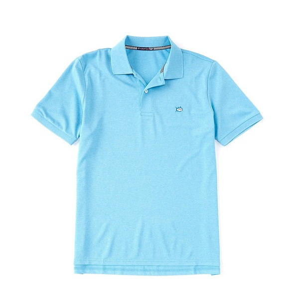 サウザーンタイド メンズ ポロシャツ トップス Heather SkipJack Performance Pique Short-Sleeve Polo Shirt Heather Shoreline Blue