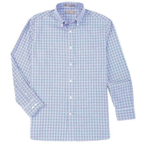 クレミュ メンズ シャツ トップス Daniel Cremieux Signature Basketweave Check Multi-Color Long-Sleeve Woven Shirt Bright Blue