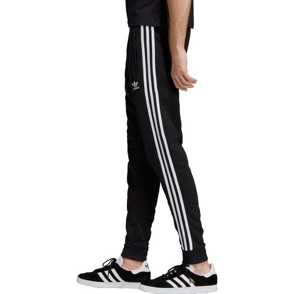 アディダス メンズ カジュアルパンツ ボトムス adidas Originals Men's 3-Stripes Pants Black
