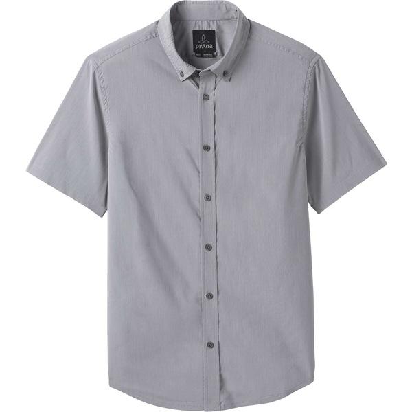 プラーナ メンズ シャツ トップス prAna Men's Granger Short Sleeve Button Down Shirt Vapor