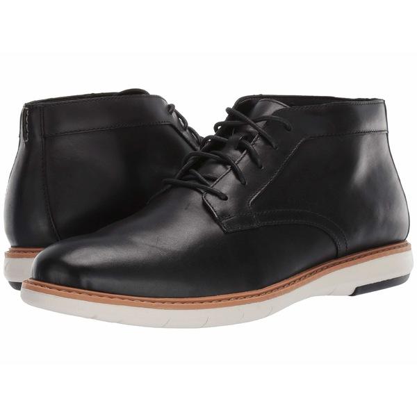 クラークス メンズ ブーツ&レインブーツ シューズ Draper Mid Black Leather