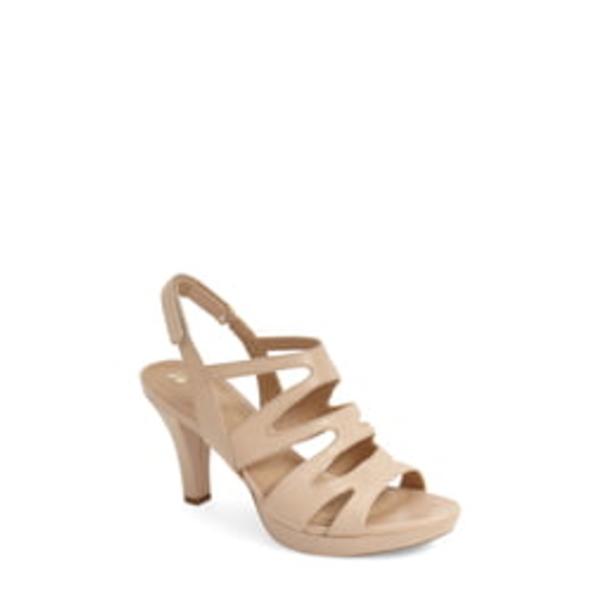 ナチュライザー レディース サンダル シューズ 'Pressley' Slingback Platform Sandal Taupe Leather