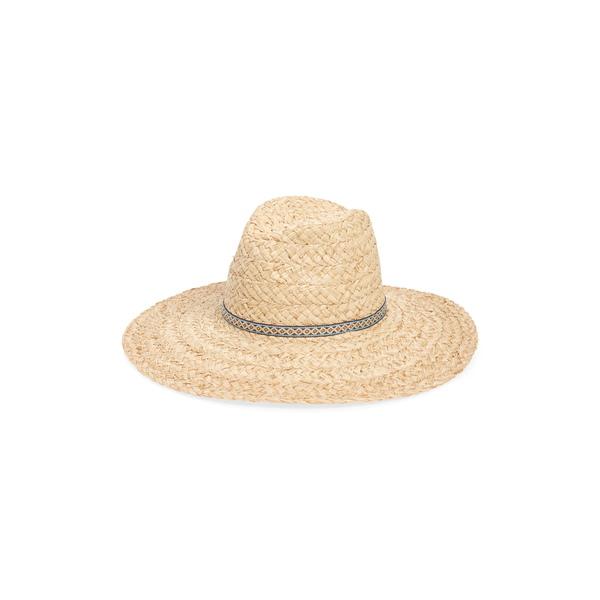 トレジャーアンドボンズ レディース ヘアアクセサリー アクセサリー Braided Straw Panama Hat Natural Combo