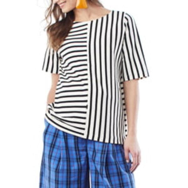 ロイヤル ハナ レディース シャツ トップス Ginger Stripe Maternity/Nursing Shirt Cream W/ Black Stripe