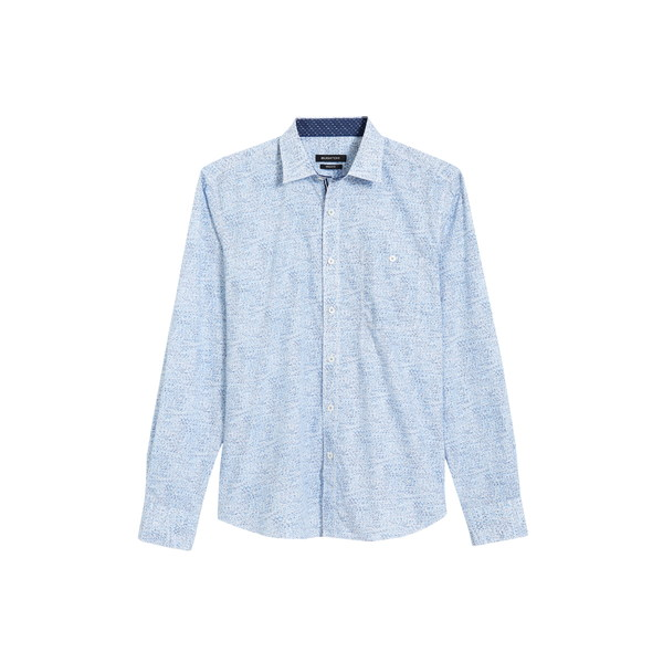 ブガッチ メンズ シャツ トップス Shaped Fit Spatter Print Button-Up Shirt Classic Blue