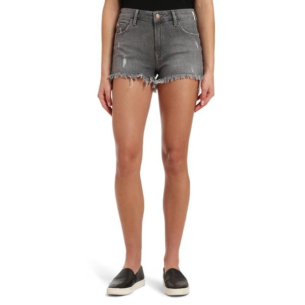 マーヴィ ジーンズ レディース カジュアルパンツ ボトムス Rosie Distressed High Waist Cutoff Denim Shorts Mid Grey London Str