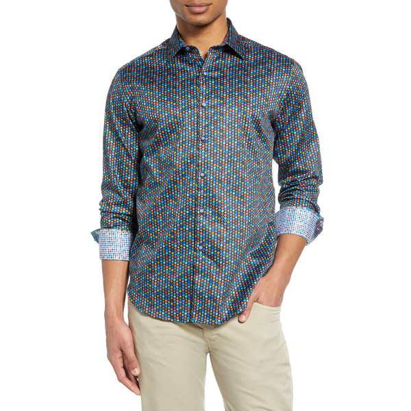 ロバートグラハム メンズ シャツ トップス Fruit Cocktail Print Button-Up Shirt Blue