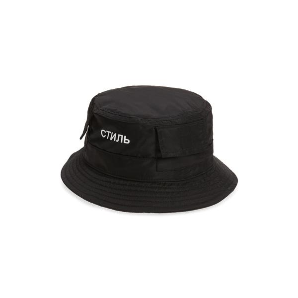 ヘロン プレストン レディース ヘアアクセサリー アクセサリー Logo Nylon Bucket Hat Black White