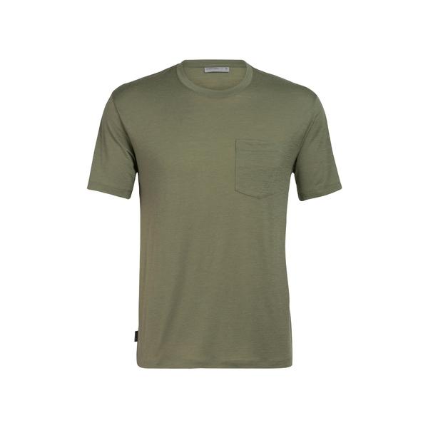 アイスブレーカー メンズ シャツ トップス Ravyn Pocket Wool Blend T-Shirt Cypress
