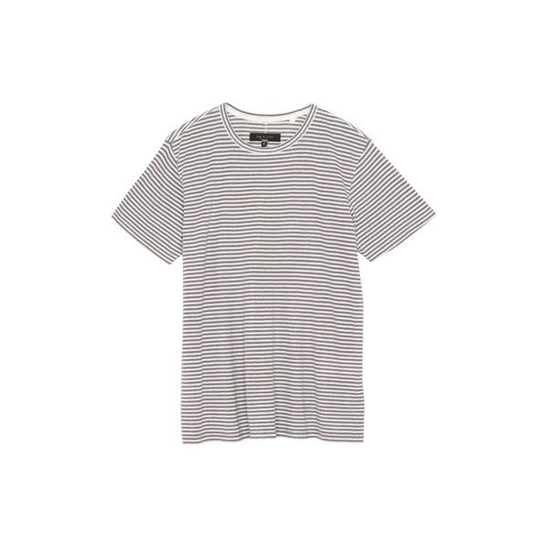 ラグアンドボーン メンズ シャツ トップス Air Stripe Linen Blend Men's T-Shirt Granite