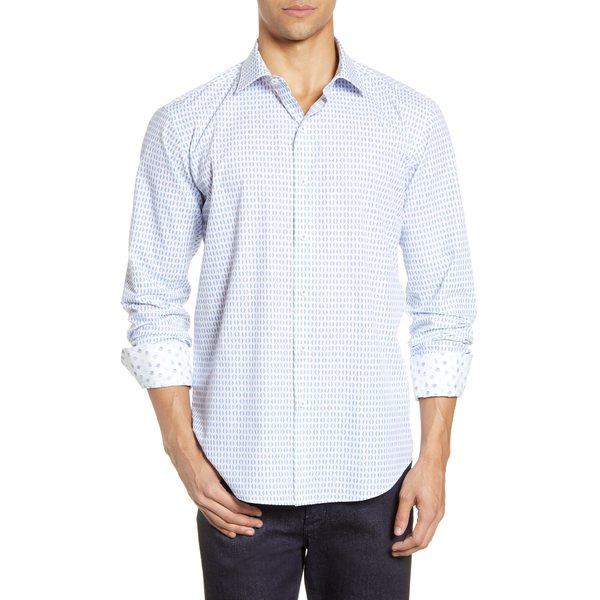 ブガッチ メンズ シャツ トップス Shaped Fit Button-Up Shirt Chalk