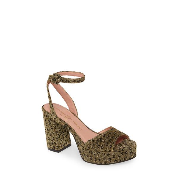 チャイニーズランドリー レディース サンダル シューズ Theresa Platform Sandal Gold Fabric
