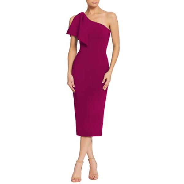 ドレスザポプレーション レディース ワンピース トップス Tiffany One-Shoulder Midi Dress Dark Magenta