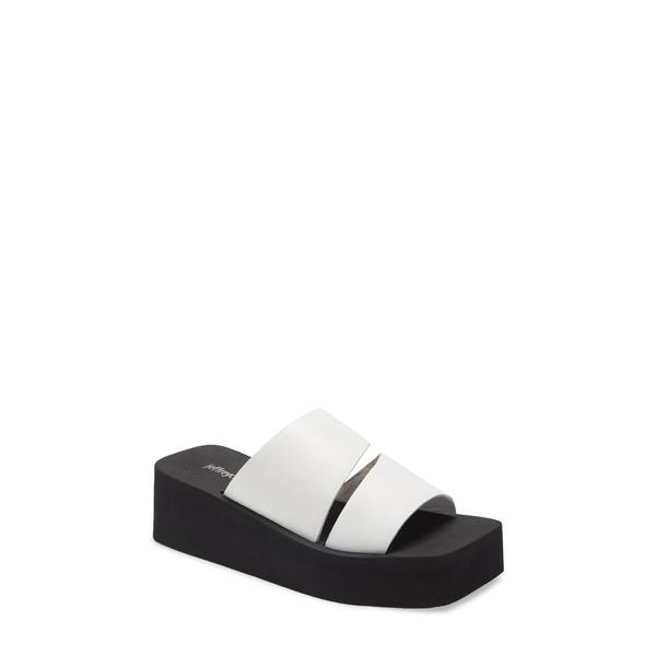 ジェフリー キャンベル レディース サンダル シューズ Wavey Wedge Slide Sandal White