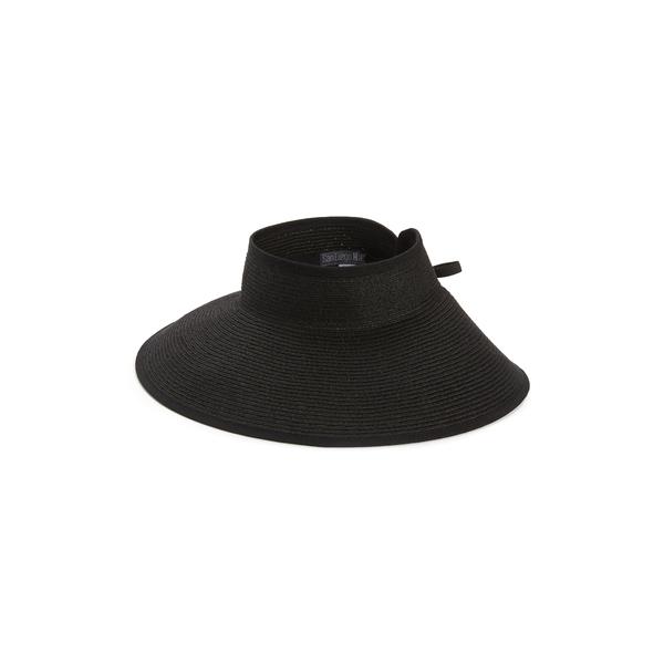 サンディエゴハット レディース ヘアアクセサリー アクセサリー Water Repellent Roll-Up Visor Black