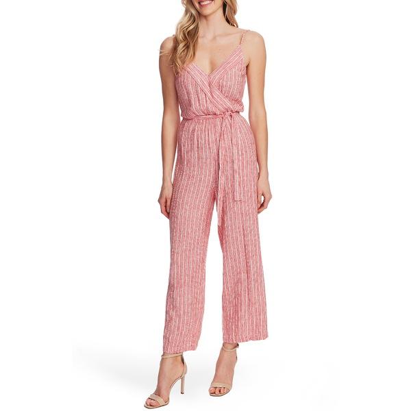 ヴィンスカムート レディース ワンピース トップス Tranquil Stripe Linen Blend Jumpsuit Bright Ladybug