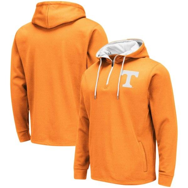 コロシアム メンズ ジャケット&ブルゾン アウター Tennessee Volunteers Colosseum Performance QuarterZip Pullover Hoodie Tennessee Orange