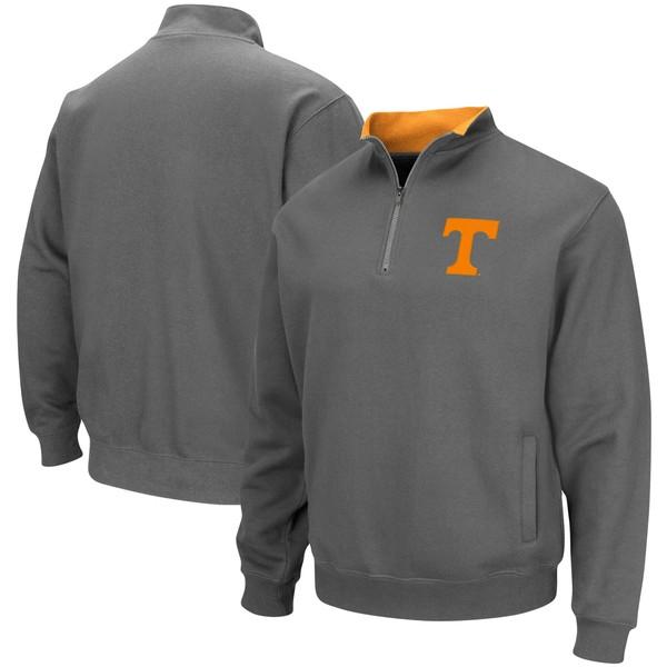 コロシアム メンズ ジャケット&ブルゾン アウター Tennessee Volunteers Colosseum Tortugas Logo QuarterZip Pullover Jacket Charcoal