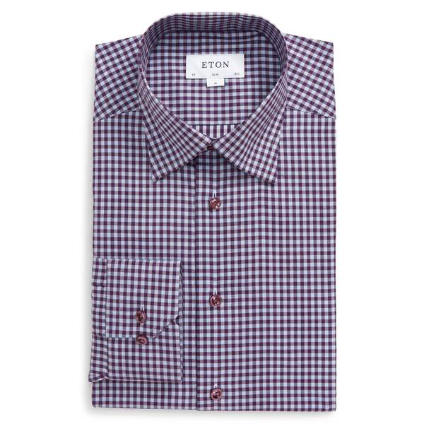 大特価放出! エトン メンズ Purple Shirt シャツ トップス Eton Slim Fit Check Dress Dress Shirt Purple:asty, 風船唐綿:a73cd4e3 --- nagari.or.id