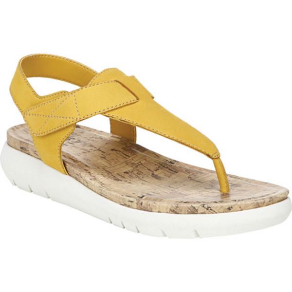 ナチュライザー レディース サンダル シューズ Lincoln Thong Sandal Sunset Yellow Waxy Nubuck