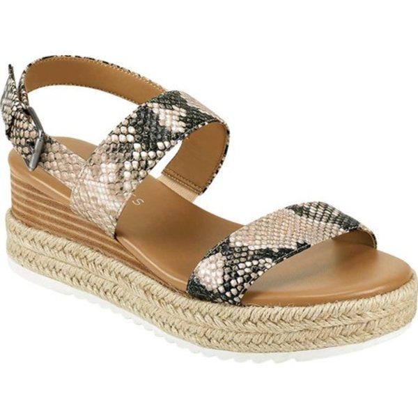 エアロソールズ レディース サンダル シューズ Union Wedge Platform Slingback Sandal Natural Python Leather