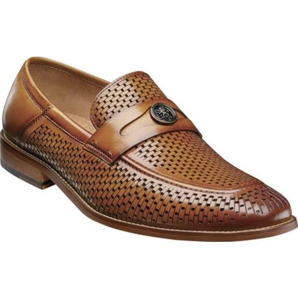 ステイシーアダムス メンズ ドレスシューズ シューズ Belmiro Ornamented Loafer Tan Smooth Leather