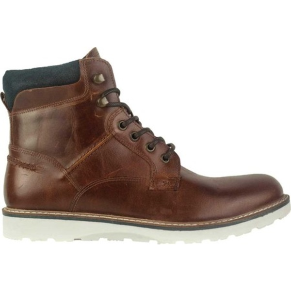 クレボ メンズ ブーツ&レインブーツ シューズ Emmett Plain Toe Boot Cognac Leather