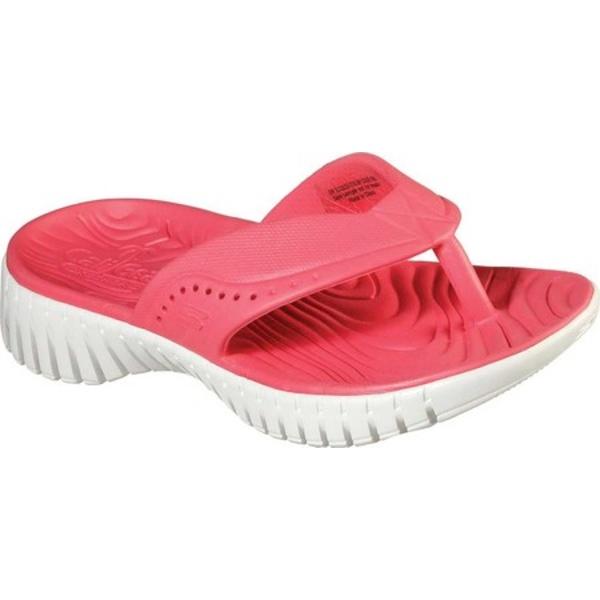 スケッチャーズ レディース サンダル シューズ Cali Gear GOwalk Smart Mahalo Thong Sandal Coral