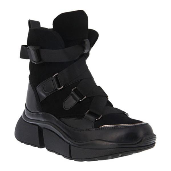 アズーラ レディース スニーカー シューズ Kenny Sneaker Boot Black Microsuede/Nylon