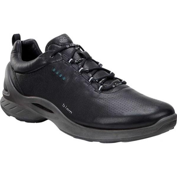 エコー メンズ スニーカー シューズ Biom Fjuel Train Sneaker Black Full Grain Leather
