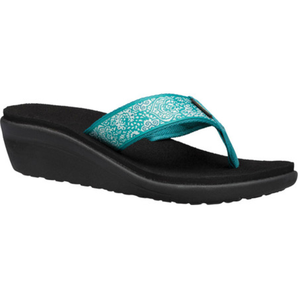 テバ レディース スニーカー シューズ Voya Wedge Sandal Harmony Teal Blue/Deep Lake Textile