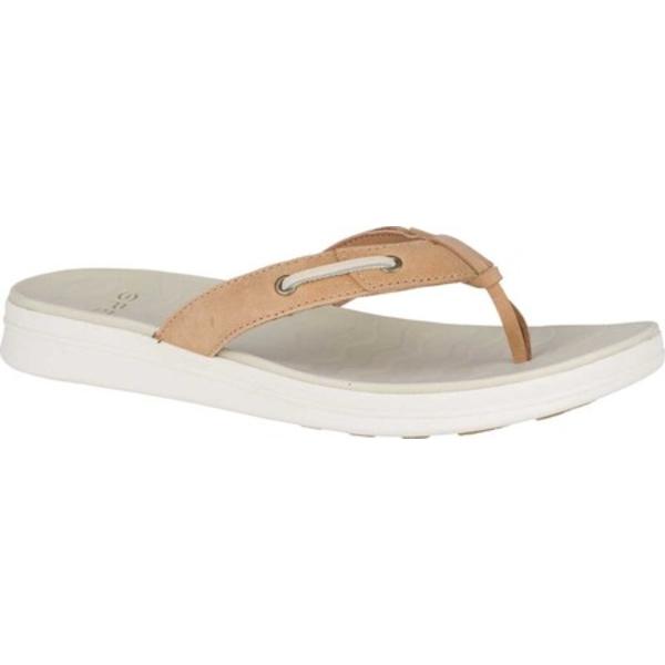 トップサイダー レディース スニーカー シューズ Adriatic Skip Thong Sandal Linen Leather