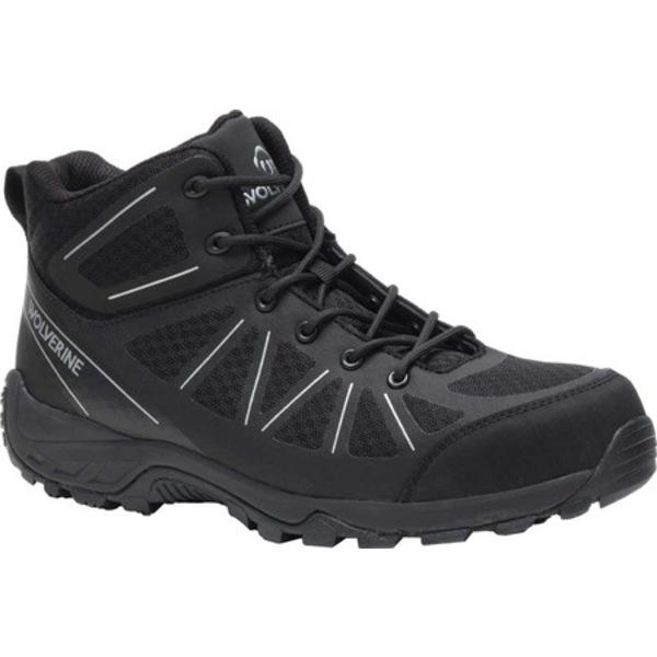 ウルヴァリン メンズ ブーツ&レインブーツ シューズ Amherst II Mid Composite Toe Work Boot Black Mesh/TPU