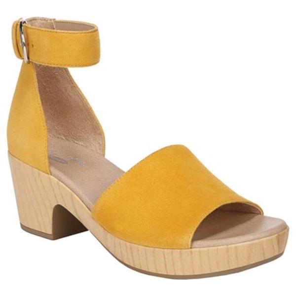 ドクターショール レディース サンダル シューズ Flora Ankle Strap Sandal Gold Yellow Kid Suede