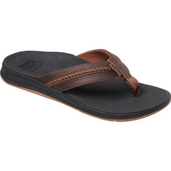 リーフ メンズ スニーカー シューズ Bounce Coast Leather Flip Flop Black/Brown Leather