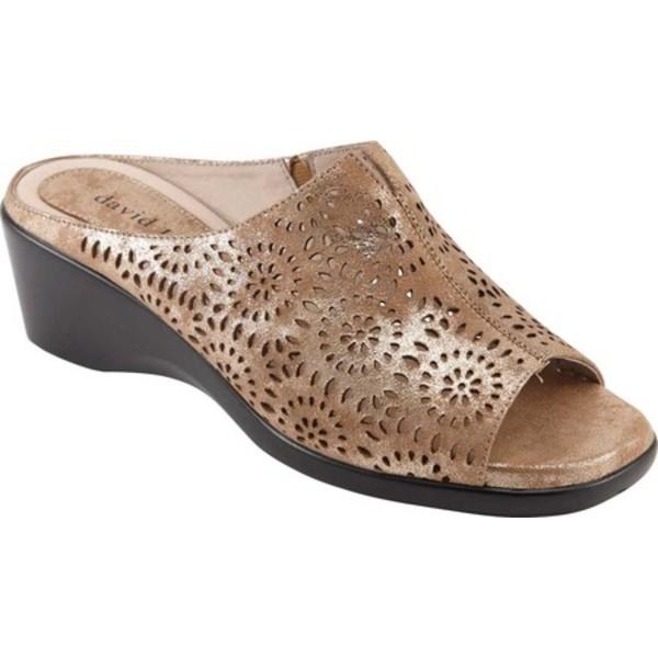 ダイビッドテイト レディース サンダル シューズ Sublime Slide Sandal Tan Antique Suede
