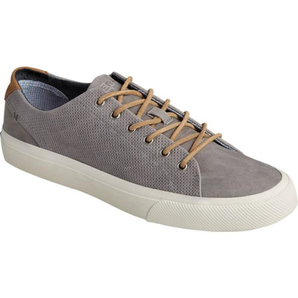 トップサイダー メンズ ブーツ&レインブーツ シューズ Striper PlushWave LTT Sneaker Grey Full Grain Leather