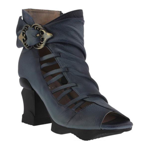 スプリングステップ レディース ブーツ&レインブーツ シューズ Nesgara Open Toe Bootie Denim Blue Leather