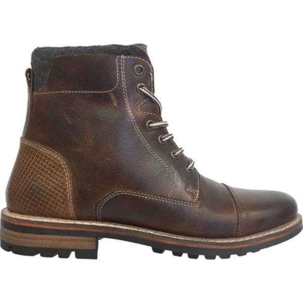クレボ メンズ ブーツ&レインブーツ シューズ Hammersmith Cap Toe Boot Brown Leather