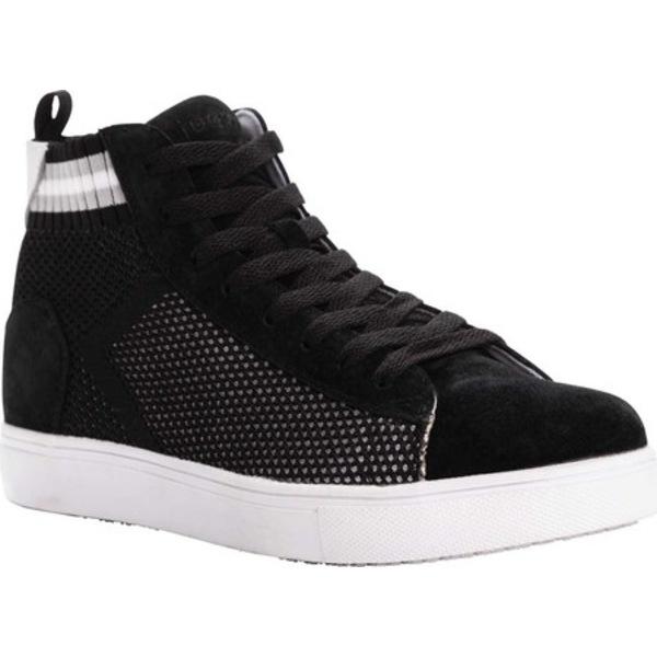 プロペット レディース スニーカー シューズ Nova Knit High Top Black/White Suede/Knit Mesh