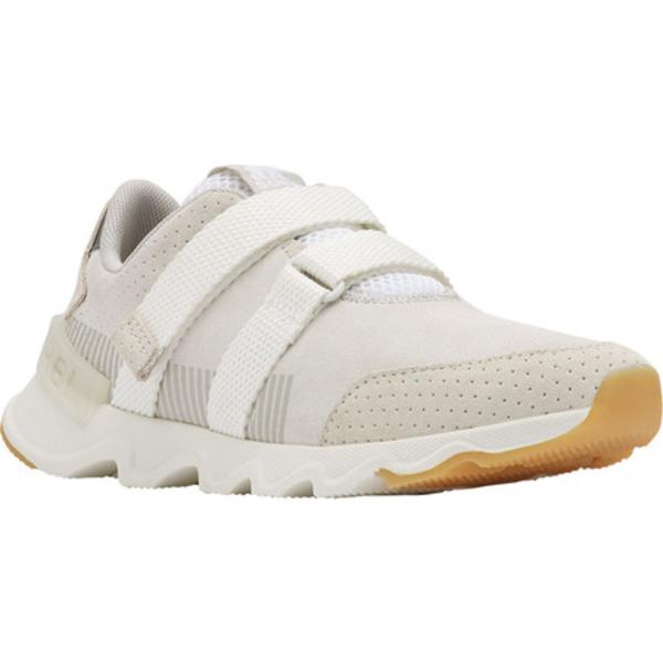 ソレル レディース スニーカー シューズ Kinetic Lite Strap Sneaker White Perforated Suede
