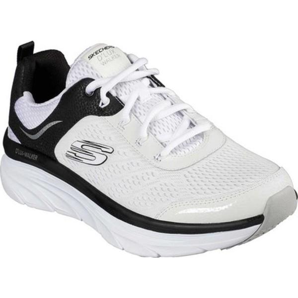 スケッチャーズ メンズ スニーカー シューズ Relaxed Fit D'Lux Walker Sneaker White/Black